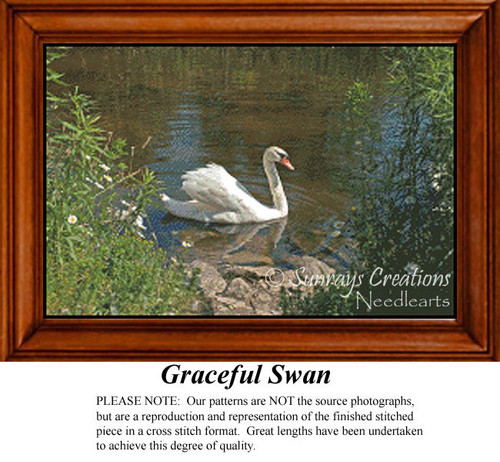 Graceful Swan, Animals Counted Cross Stitch Pattern