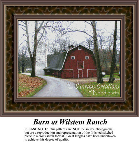 Barn at Wilstem Ranch, Alluring Landscapes Counted Cross Stitch Pattern