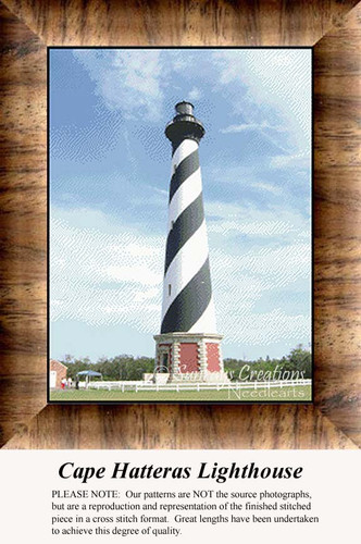 Cape Hatteras Lighthouse, Lighthouse Counted Cross Stitch Pattern