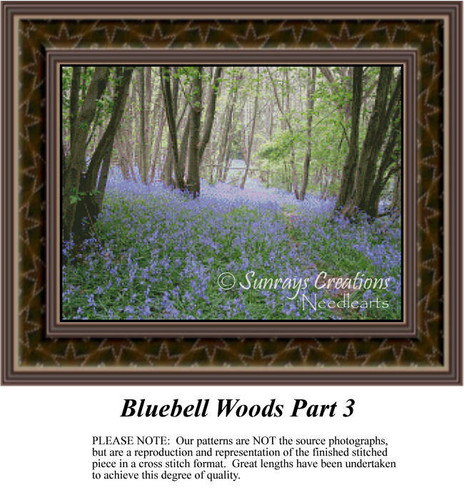 Bluebell Woods Part 3, Alluring Landscapes Counted Cross Stitch Pattern