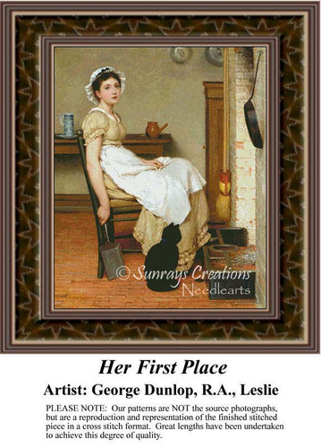 Her First Place, Fine Art Counted Cross Stitch Pattern, Women Counted Cross Stitch Pattern
