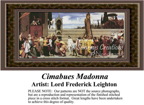 Cimabues Madonna, Fine Art Counted Cross Stitch Pattern, Social Counted Cross Stitch Pattern