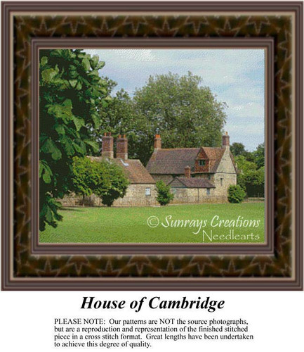 House of Cambridge, Landscapes Counted Cross Stitch Pattern