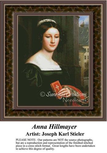 Anna Hillmayer, Fine Art Counted Cross Stitch Pattern, Women Counted Cross Stitch Patterns