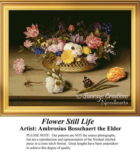 Flower Still Life, Cross Stitch Pattern