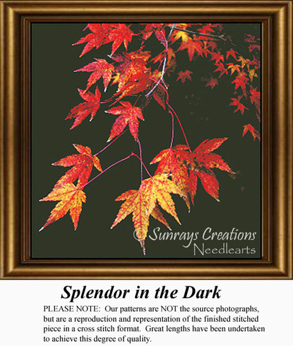 Fall Cross Stitch Patterns, Summer Counted Cross Stitch Pattern,  Splendor in the Dark