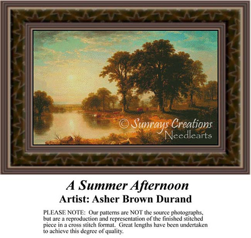 A Summer Afternoon, Fine Art Counted Cross Stitch Pattern, Summer Counted Cross Stitch Pattern,  Alluring Landscapes Counted Cross Stitch Patterns