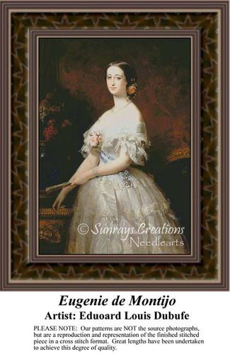 Eugenie de Montijo, Fine Art Counted Cross Stitch Pattern, Women Counted Cross Stitch Patterns