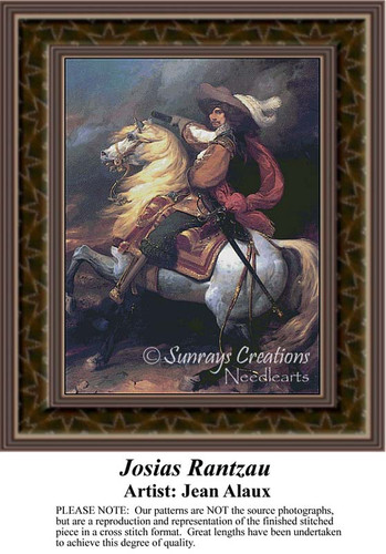 Josias Rantzau, Fine Art Counted Cross Stitch Pattern, Men Counted Cross Stitch Pattern