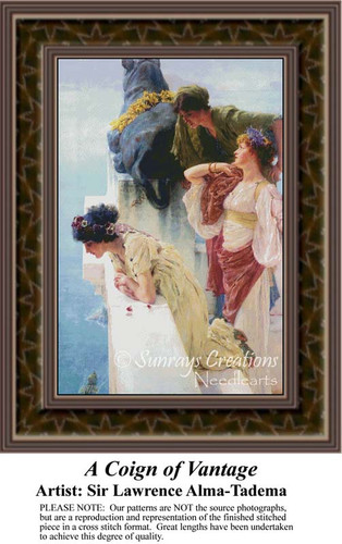 A Coign of Vantage, Fine Art Counted Cross Stitch Pattern