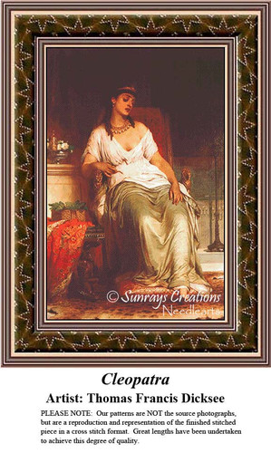 Fine Art Counted Cross Stitch Pattern | Cleopatra | Women Counted Cross Stitch Pattern