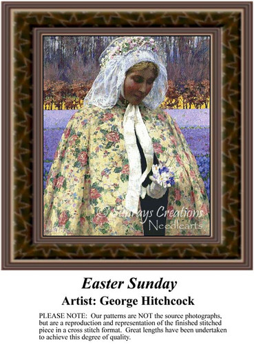 Easter Sunday, Fine Art Counted Cross Stitch Pattern