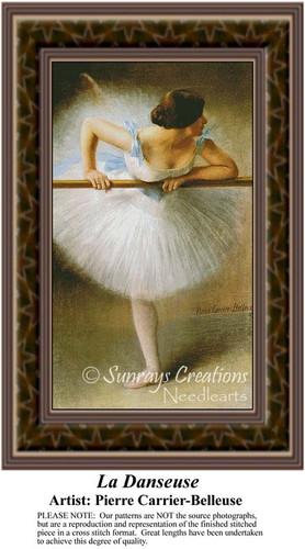 La Danseuse, Ballet Counted Cross Stitch Pattern, Fine Art Counted Cross Stitch Pattern