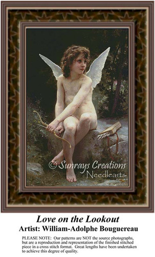 Love on the Lookout, Fine Art Counted Cross Stitch Pattern