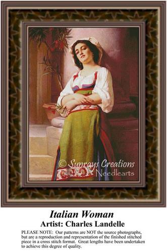 Italian Cross Stitch Patterns | Fine Art Counted Cross Stitch Pattern | Women Counted Cross Stitch Pattern