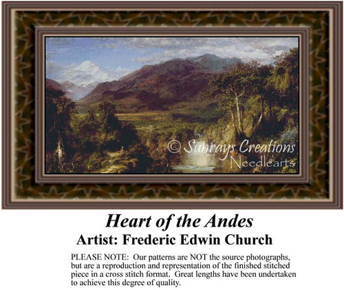 Heart of the Andes, Fine Art Counted Cross Stitch Pattern, Alluring Landscapes Counted Cross Stitch Patterns