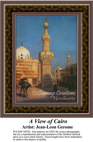 A View of Cairo, Fine Art Counted Cross Stitch Pattern