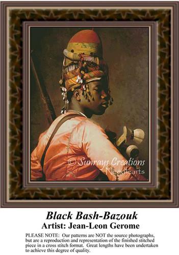 Black Bashi-Bazouk, Fine Art Counted Cross Stitch Pattern, Men Counted Cross Stitch Pattern