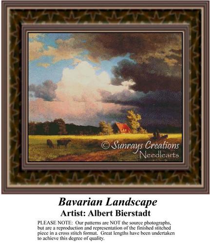 Bavarian Landscape, Fine Art Counted Cross Stitch Pattern, Alluring Landscapes Counted Cross Stitch Pattern