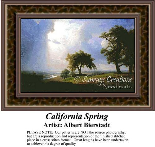 California Spring, Fine Art Counted Cross Stitch Pattern, Spring Counted Cross Stitch Pattern, Alluring Landscapes Counted Cross Stitch Pattern