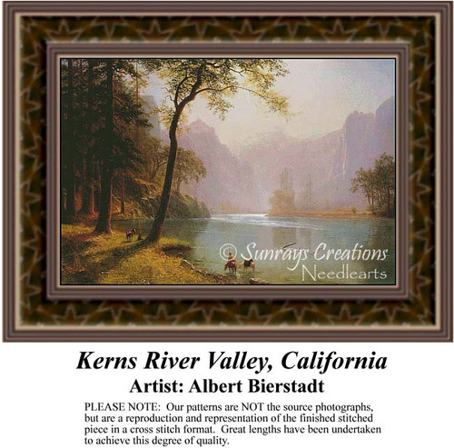Kerns River Valley California, Fine Art Counted Cross Stitch Pattern