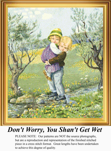 Don't Worry, You Shan't Get Wet, Vintage Counted Cross Stitch Pattern