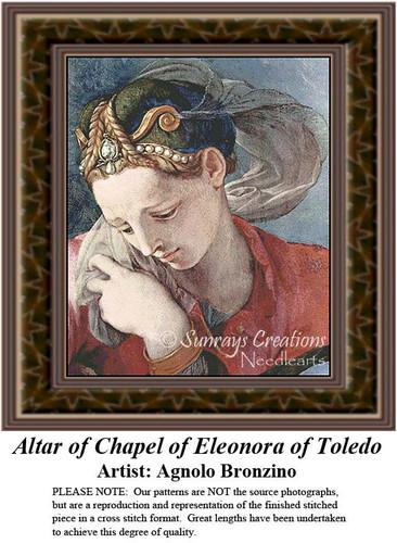 Altar of Chapel of Eleonora of Toledo, Fine Art Counted Cross Stitch Pattern, Women Counted Cross Stitch Pattern