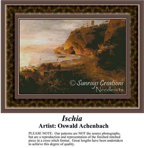Ischia, Fine Art Counted Cross Stitch Pattern, Alluring Landscapes Counted Cross Stitch Pattern
