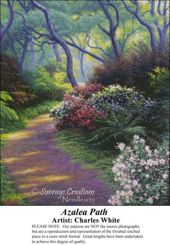 Azalea Path, Charles White Counted Cross Stitch Pattern