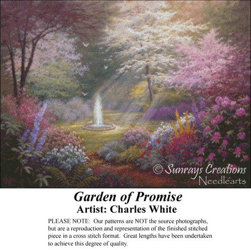 Garden of Promise, Charles White Counted Cross Stitch Pattern