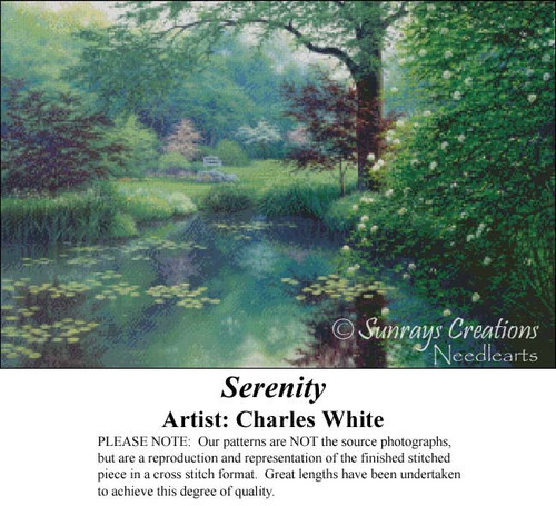 Serenity, Charles White Counted Cross Stitch Pattern