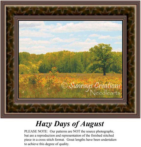 Hazy Days of August, Landscapes Counted Cross Stitch Pattern