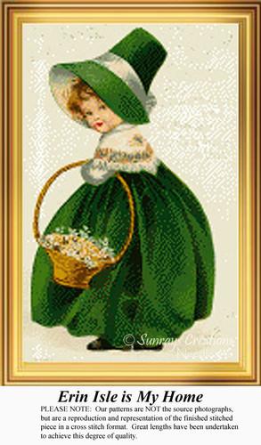 Erin Isle is My Home, Irish Counted Cross Stitch Pattern