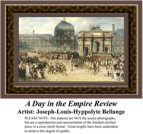 A Day in the Empire Review, Urban Counted Cross Stitch Pattern, Fine Art Counted Cross Stitch Pattern
