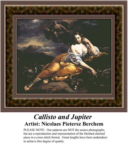 Callisto and Jupiter, Fine Art Counted Cross Stitch Pattern