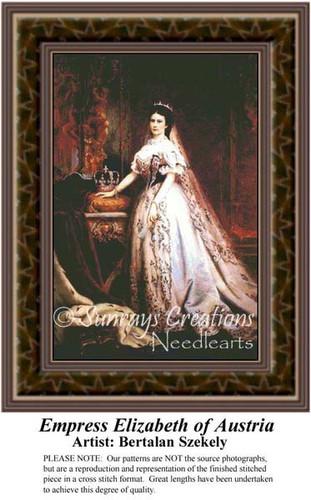 Empress Elizabeth of Austria, Fine Art Counted Cross Stitch Pattern