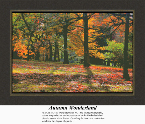 Autumn Wonderland, Alluring Landscapes Counted Cross Stitch Pattern, Fall Counted Cross Stitch Pattern
