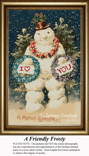 A Friendly Frost, Vintage Counted Cross Stitch Pattern