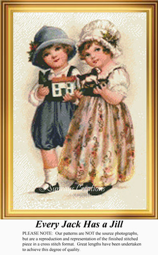 Every Jack has a Jill, Vintage Counted Cross Stitch Pattern