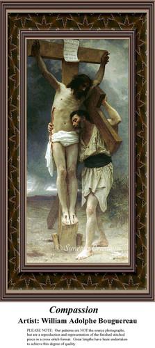 Compassion, Fine Art Counted Cross Stitch Pattern