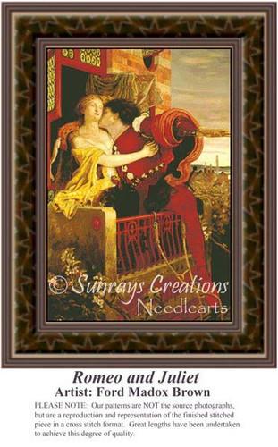 Romeo and Juliet, Fine Art Counted Cross Stitch Pattern, Romance Counted Cross Stitch Pattern