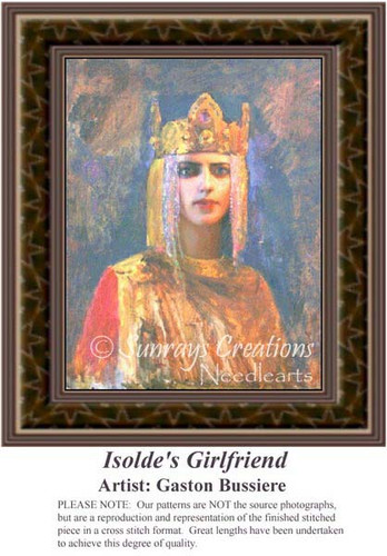 Isoldes Girlfriend, Fine Art Counted Cross Stitch Pattern, Women Counted Cross Stitch Pattern