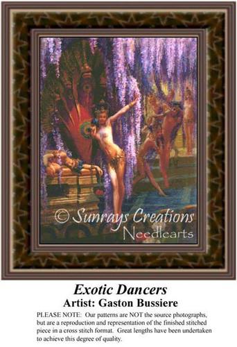 Exotic Dancers, Fine Art Counted Cross Stitch Pattern
