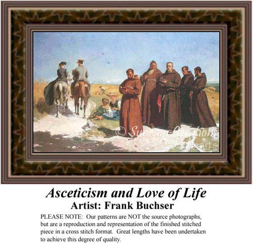 Asceticism and Love of Life, Fine Art Counted Cross Stitch Pattern