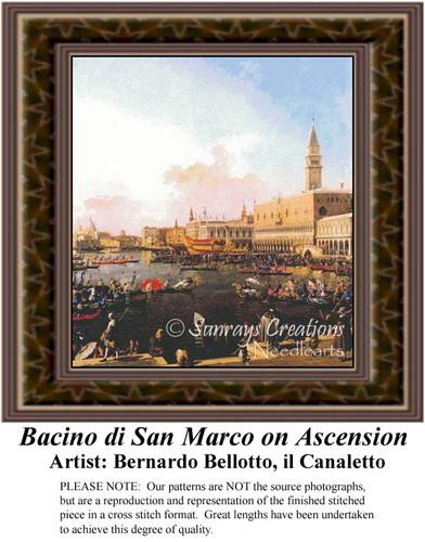 Bacino di San Marco on Ascension, Fine Art Counted Cross Stitch Pattern