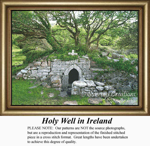 Holy Well in Ireland, Counted Cross Stitch Pattern