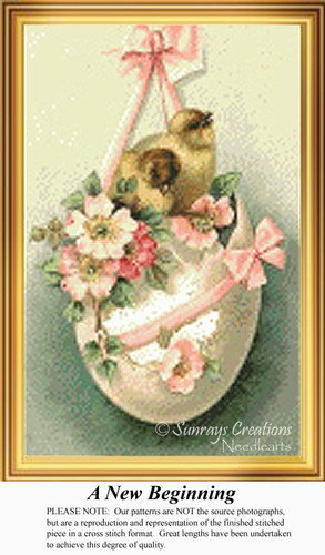 A New Beginning, Vintage Counted Cross Stitch Pattern