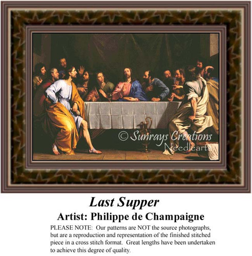 Last Supper, Religious Counted Cross Stitch Pattern