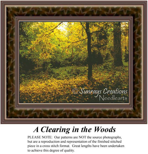 A Clearing in the Woods, Alluring Landscapes Counted Cross Stitch Pattern