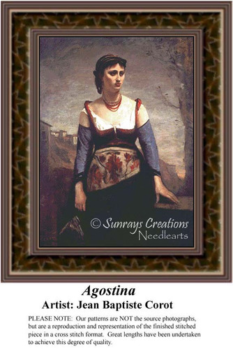 Agostina, Fine Art Counted Cross Stitch Pattern
